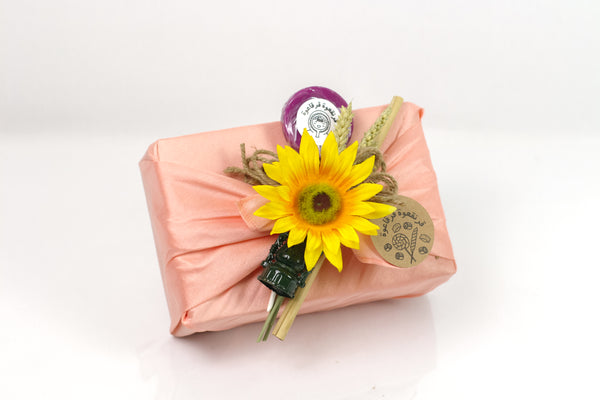 Peach Fabric Garangao Gift Box