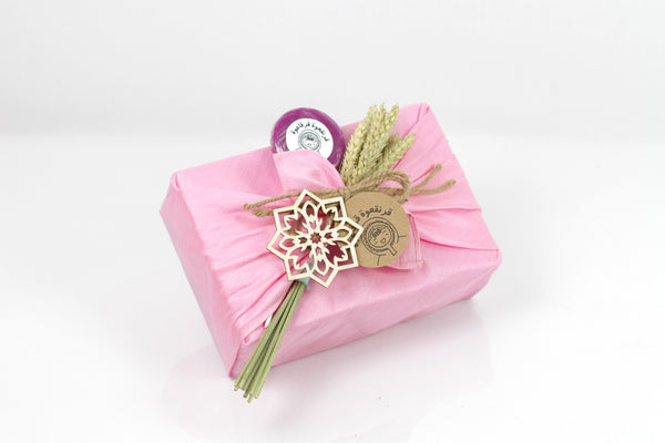 Pink Fabric Garangao Gift Box