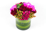 Green Vase of Flowers - فازة خضراد مع ورود