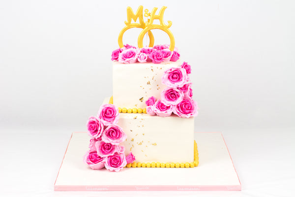 Flower Pearl Wedding Cake - كيكة زواج