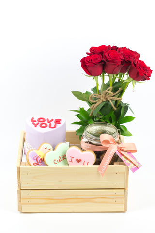 Wooden Hearty Gift Box