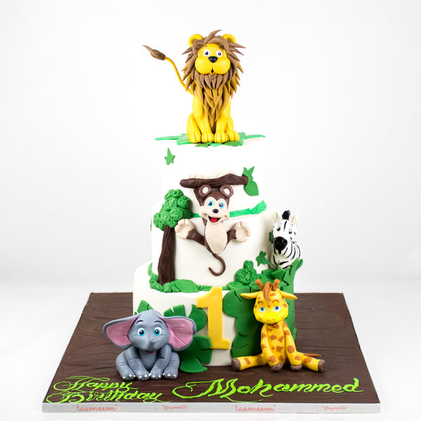 Jungle Birthday Cake - كيكة الغابة