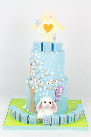 Little Rabbit Birthday Cake