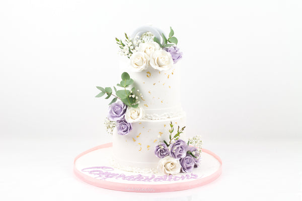 Two-Tiered Elegant Cake - كيكة من طابقين