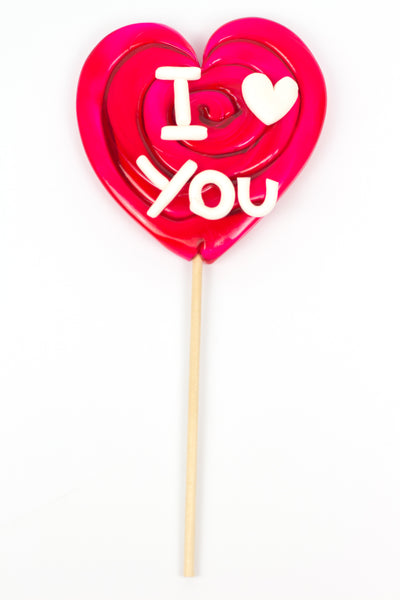 Big Heart Lollipop with ILOVEU