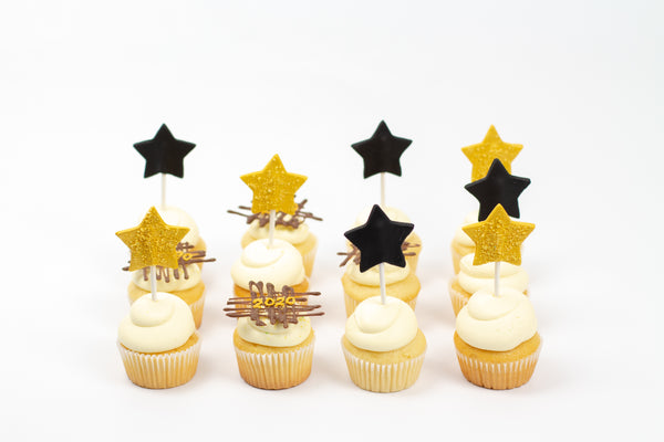New Year Star Cupcakes