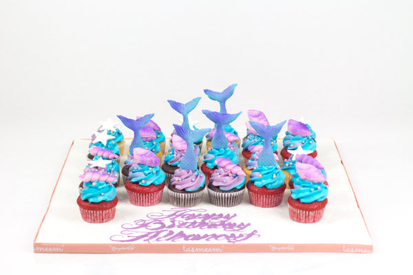 Pearly Fishtail Cupcakes