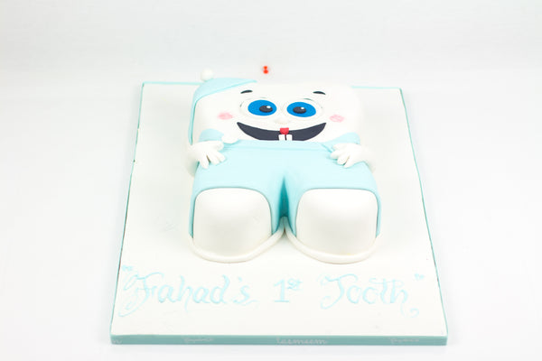 Baby Tooth Shaped Cake