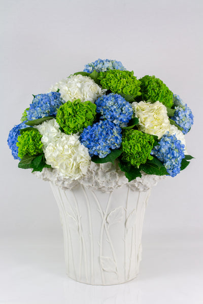 Blue & White Flower Arrangement