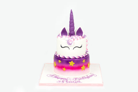 Two Tiered Unicorn Cake
