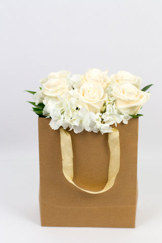 Fresh White flower in a bag