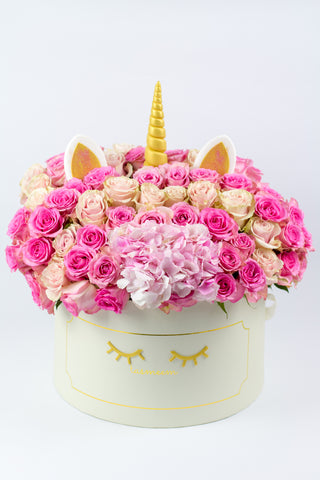 Unicorn Flower Gift Box