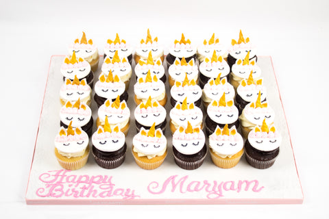Happy Birthday Unicorn Cupcake