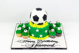 Football Shaped Birthday Cake