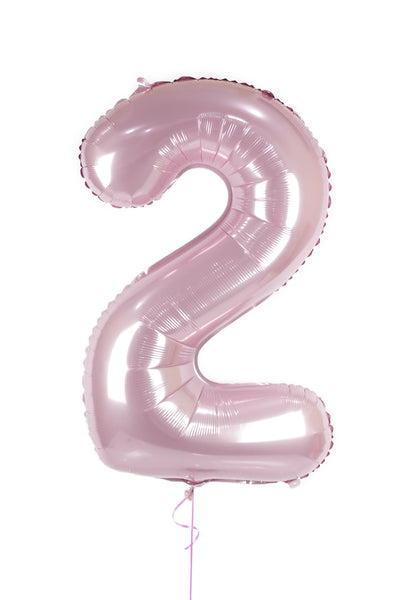Number 2 Shaped Foil Balloon