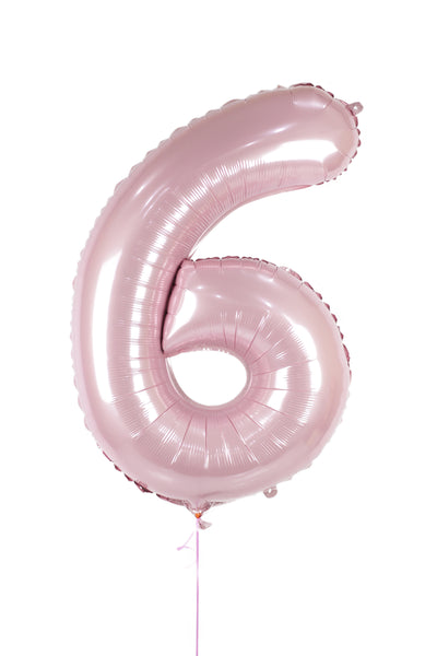 Number 6 Shaped Foil Balloon
