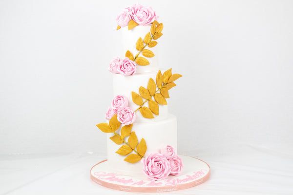 Three Layered Bride to be Cake