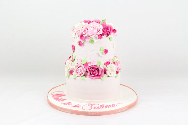 Floral Bride to be Cake