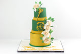Emerald Green Birthday  Cake