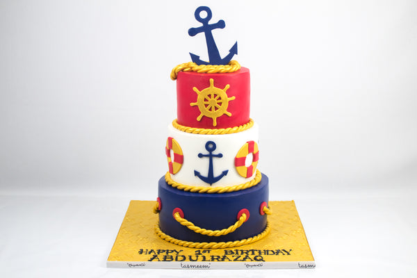Nautical Theme Birthday Cake - كيكة يوم ميلاد