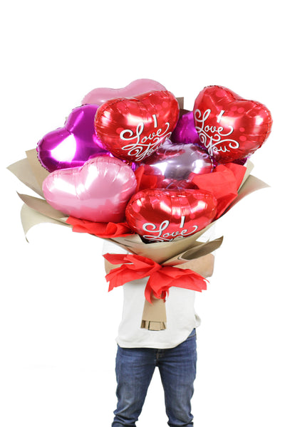 I love You foil Balloon Bouquet