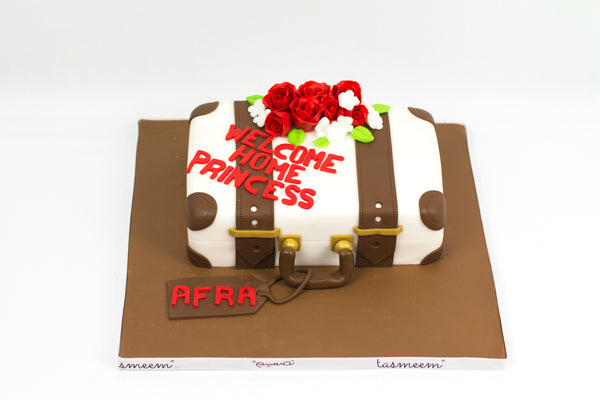 Suit Case Shaped Cake