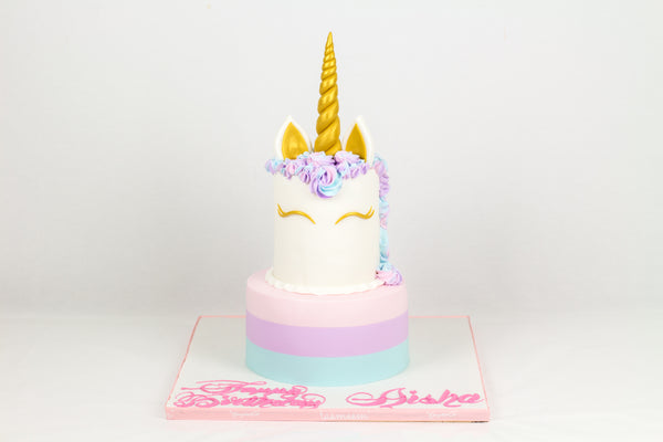 Two-Tiered Unicorn Cake - كيكة اليونيكورن