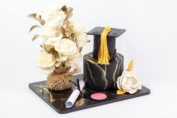 Graduation Cake and Flower