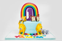 Happy Animals Rainbow Cake
