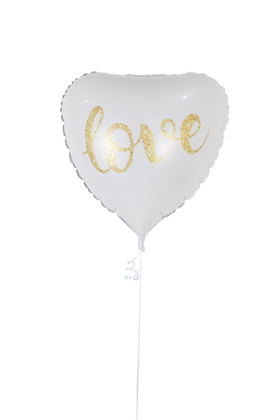 White Heart Shaped Foil Balloon
