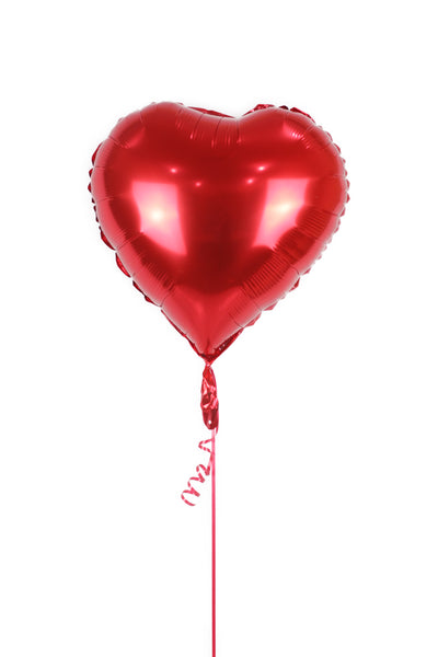 Plain Red Heart Shaped Foil  Balloon
