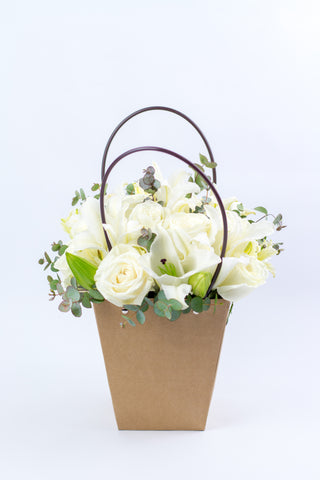 White Roses in a Bag