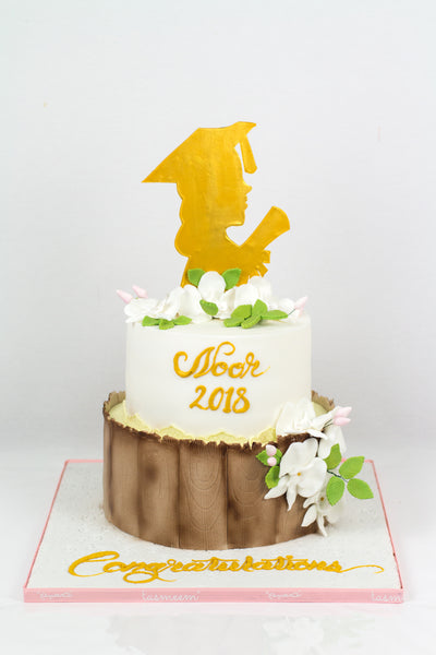 Two Tiered Congratulation Cake - كيكة تخرج
