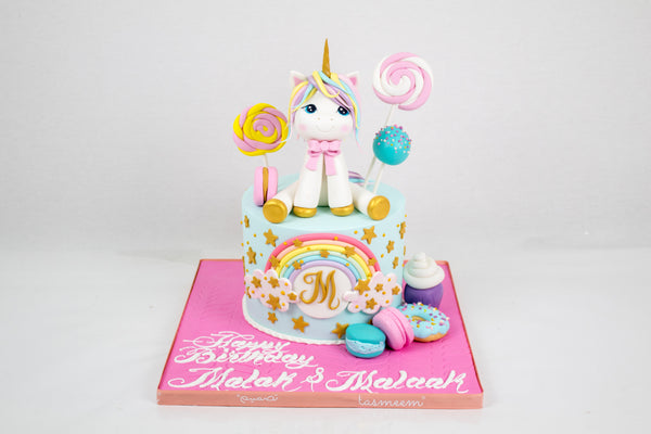 Unicorn Birthday Cake I - كيكة اليونيكورن