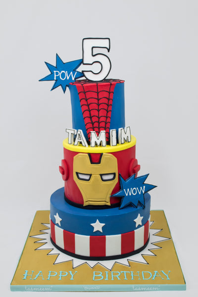 Three Tiered Character Cake