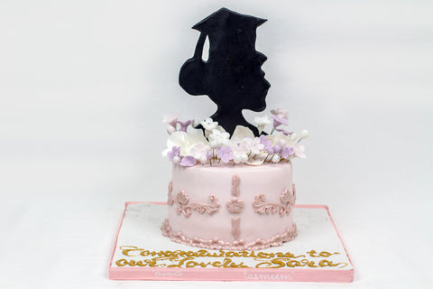 Graduation Cake with Lady Image