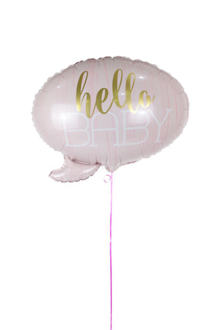 Pink Hello Baby Foil Balloon