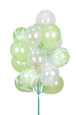 Green/Marble Latex Balloon Bouquet