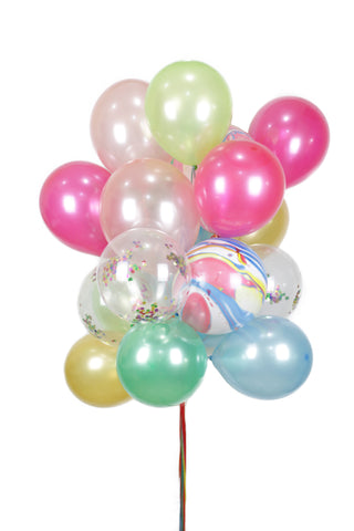 Mixed Color Latex Balloon Bouquet