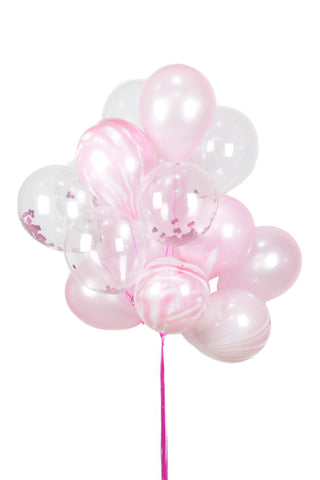 Pink/Marble Latex Balloon Bouquet