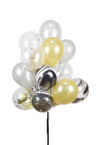 Black/White Marble Latex Balloon Bouquet