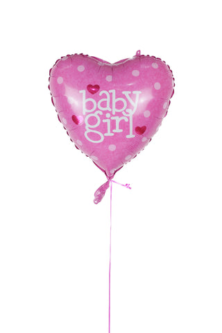 Heart Shaped Baby Girl Foil Balloon