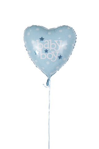 Heart Shaped Baby Boy Foil Balloons