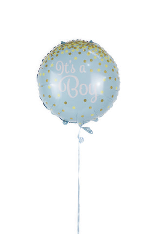 Gold Glitter Dots It's a Boy Foil Balloon