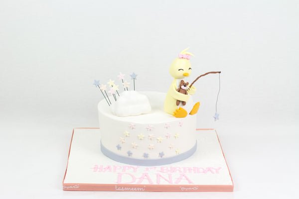Fishing Duck Birthday Cake