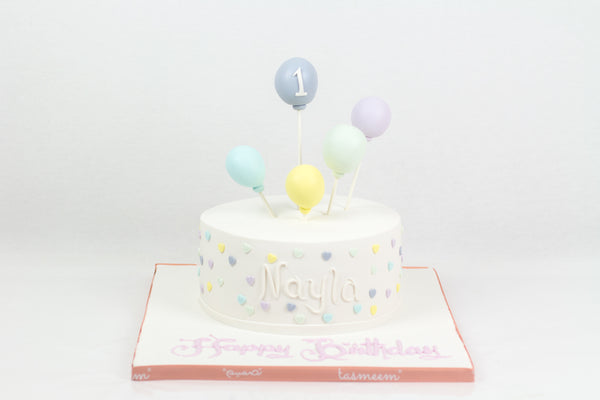 White Round Birthday Cake