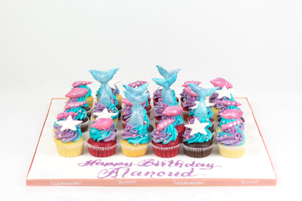 Mermaid Birthday Cupcakes