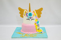 Two Tiered Unicorn Birthday Cake