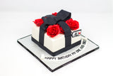 Black & Red Birthday Cake - كيكة يوم ميلاد