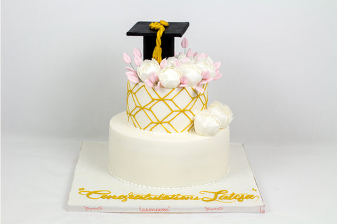 Two Tiered Graduation Cake